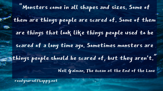 rs 3 of 5 stars [ 4 of 5 stars ] 5 of 5 stars The Ocean at the End of the Lane by Neil Gaiman 424,183 ratings, 4.00 average rating, 43,810 reviews Open Preview The Ocean at the End of the Lane Quotes Showing 1-30 o.png